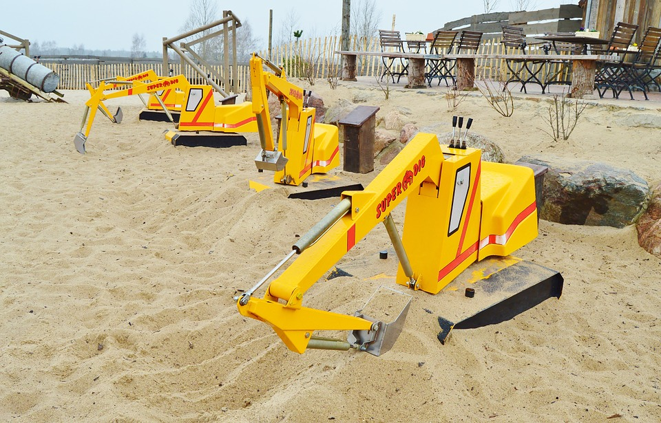 gravemaskinen til sandkasse